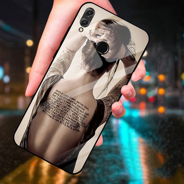 For Huawei Honor Note 10 Case Sex Lady Tempered Glass Case For Honor Note10 Glass Back Cases Note 10 Protector Cover Shell Coque