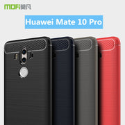 For Huawei Mate 10 Pro MOFi Soft Silicone TPU Gel Brush Carbon Fiber Design Phone Case Cover For Huawei Mate 10 Pro Case