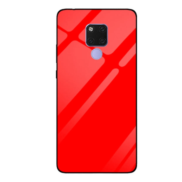 For Huawei Mate 20 X Case Gradient Tempered Glass Case Mate20X Silicone Frame Glass Hard Back Cover For Huawei Mate20 X Shell