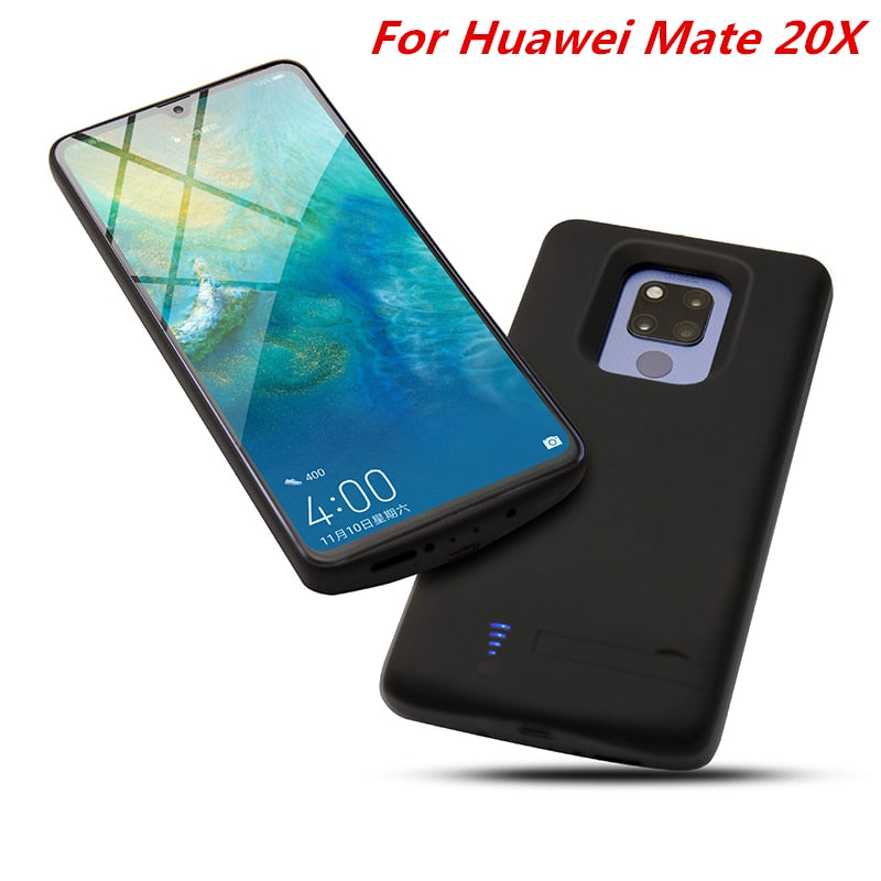 the latest b9165 609be For Huawei Mate 20X Battery Case 6000 Mah Charger Case Smart Phone Cover  Power Bank For Huawei Mate 20X Battery Case Capa