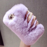 For Huawei Mate 7 8 9 10 Lite Plus Nova 2 Plus 2S Cute Bunny Fluffy Rabbit Warm Hairy Fur Phone Bag Case Soft TPU Cover