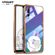 For Huawei P20 P20 Pro Case Cartoon Tempered Glass Explosion-proof Cover For Huawei P20 Pro Mate 20 X Pro Shockproof Glass Case