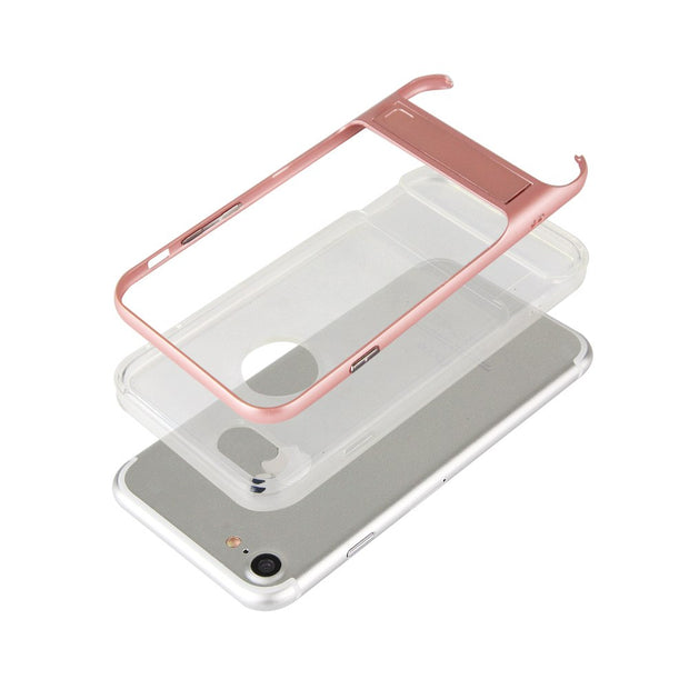 "For IPhone 7 4.7"" Case Full Protective XNYOCN TPU & Acrylic Transparent Back Cover Cases Phone Holder For IPhone 7"