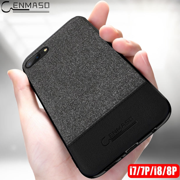For Iphone8 Cloth Case For Iphone 8 Plus Case Cover Silicone Edge Business Men Back Cover 8P 7 Plus Case For Iphone 7 Case