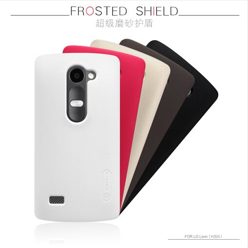 For LG Leon H324 Case Nillkin Frosted Shield PC Hard Back Cover Case For LG Leon / H324 Mobile Phone Case Gift Screen Protector