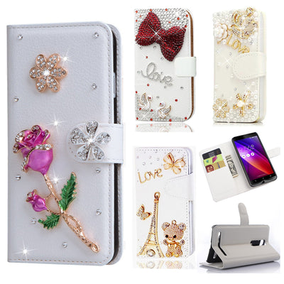 For Moto G2 G5 G4 G4 Plus Diamond Butterfly Printed Pattern Leather Case TPU Back Cover Flip Shell Stand Wallet Bag Card Holder