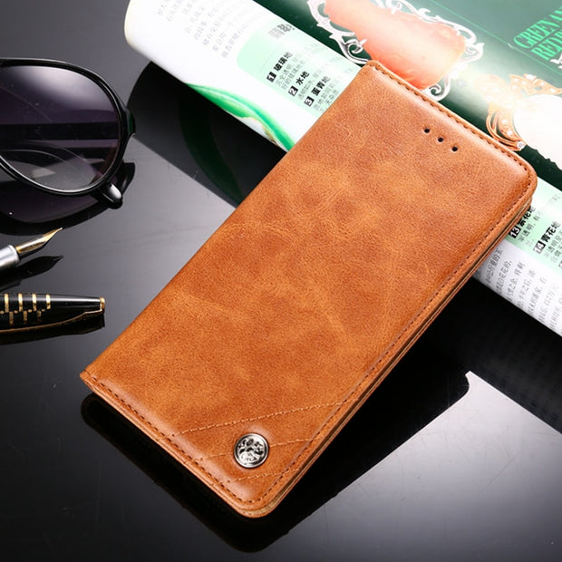 For Moto G7 G6 X4 Card Holder Case Vintage Leather Wallet Flip Cover For Motorola Moto G5 G5S G4 Play Plus Flip Stand