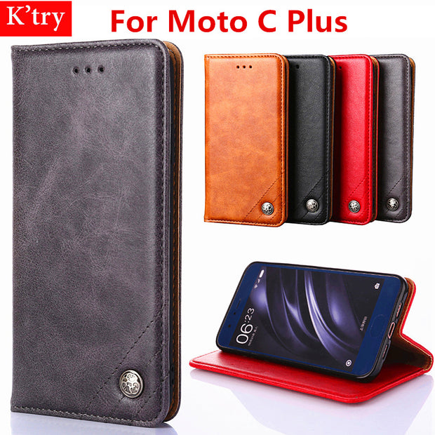 For Motorola Moto C Plus Case Luxury Triangle Line Leather Wallet Flip Bag Cover Cases For Moto C Plus 5.0 Inch Without Magnets