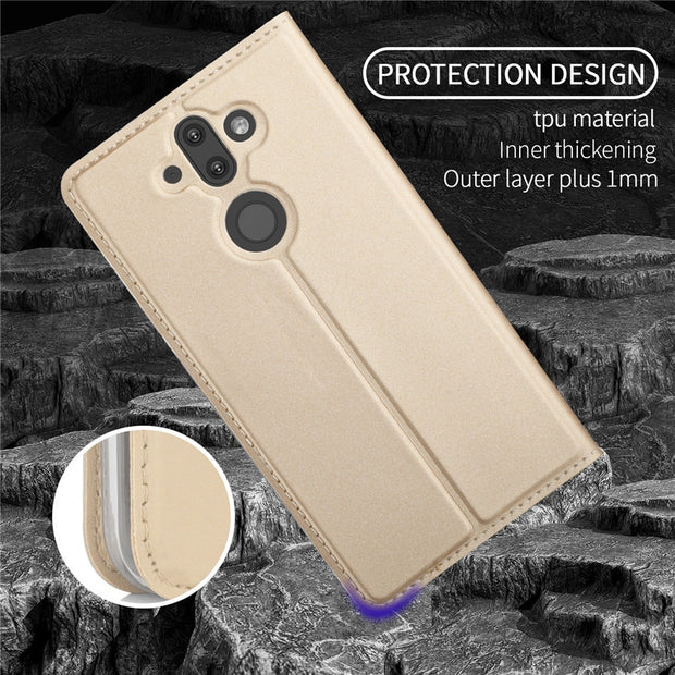 For Nokia 8 Sirocco Case Flip Cases For Nokia 8 Sirocco Magnetic Case Stand Cover Wallet Case For Nokia 8 Sirocco 5.5''