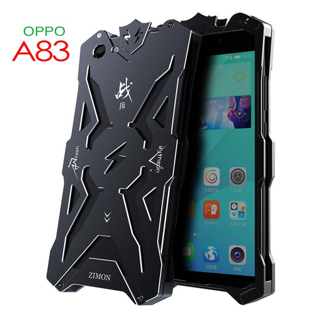 promo code b965b 693d1 For OPPO A83 Case Zimon Original Armor Heavy Dust Protection Shockproof  Aluminum Metal Cover For For OPPO A83 Cover Capa Coque