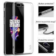 For One Plus 5 Case IMAK Wear Resistant PRO Transparent Crystal Hard Phone Case For OnePlus 5 Case