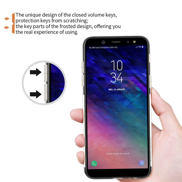 For Samsung Galaxy A6 Case NILLKIN Nature Clear TPU Ultra Thin Case Soft Back Cover Case For Galaxy A6 Cover Transparent