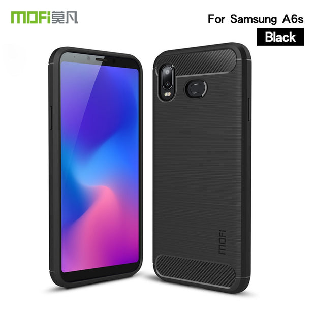 For Samsung Galaxy A6S Case Cover MOFI Fitted TPU Cases For Samsung Galaxy A6s SM-G6200 High Quality Soft TPU Back Cover 6.0''