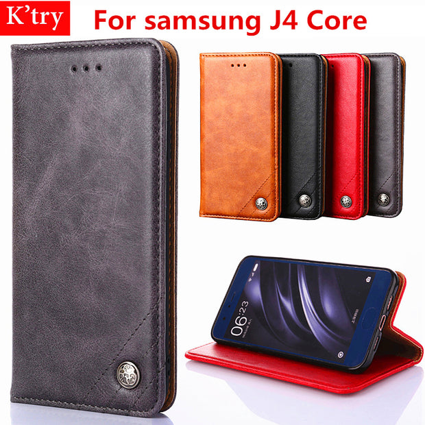 For Samsung Galaxy J4 Core Card Holder Case Cover Pu Leather Cases For Samsung J4 Core Luxury Wallet Flip Cover Coque J4 Core