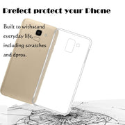For Samsung Galaxy On6 J6 Transparent TPU Back Cover Case 0.3MM 2.5D 9H Full Coverage Tempered Glass Screen Protector