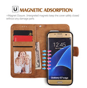 For Samsung Galaxy S8 Case Flip Wallet 2 In 1 Detachable Retro Slim PU Leather Case For Samsung S8 Plus Case Shockproof Magnetic