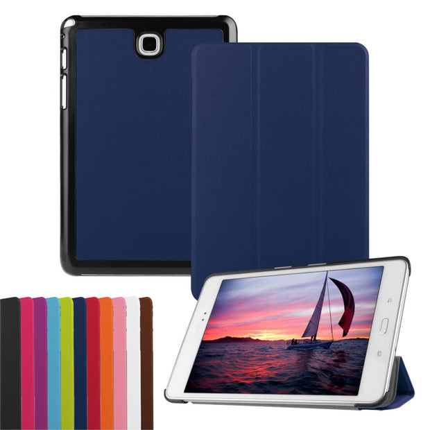"For Samsung Galaxy Tab A T350 Case Cover Tablet For Samsung Galaxy Tab A T351 P350 Tablet 8"" Leather Case+Film+Stylus Pen"