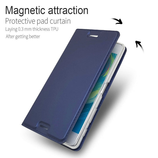 For Sony Xperia X Performance Case Magnetic Stand Leather Phone Case With Card Slot For Sony Xperia X Performance - 5.0''