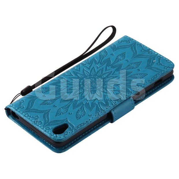 For Sony Xperia XA Leather Case Embossing Sunflower Leather Wallet Case For Sony Xperia XA FREE SHIPPING
