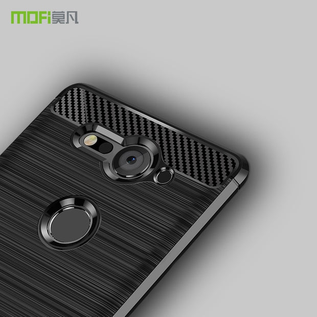For Sony Xperia XZ2 Compact MOFi Soft Silicone TPU Gel Brush Carbon Fiber Design Phone Case Cover For Sony XZ2 Compact Case