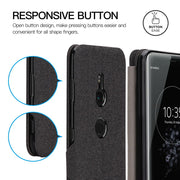 For Sony Xperia XZ3 Phone Case Flip Soft Cloth Protective Cases Sony Xperia XZ 3 Phone Shockproof Standing Cover With Card Slot