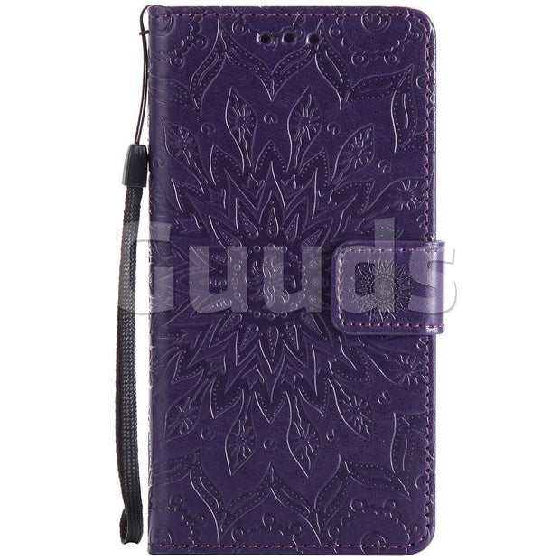 For Sony Xperia Z5 Leather Case Embossing Sunflower Leather Wallet Case For Sony Xperia Z5 / Z5 Dual FREE SHIPPING