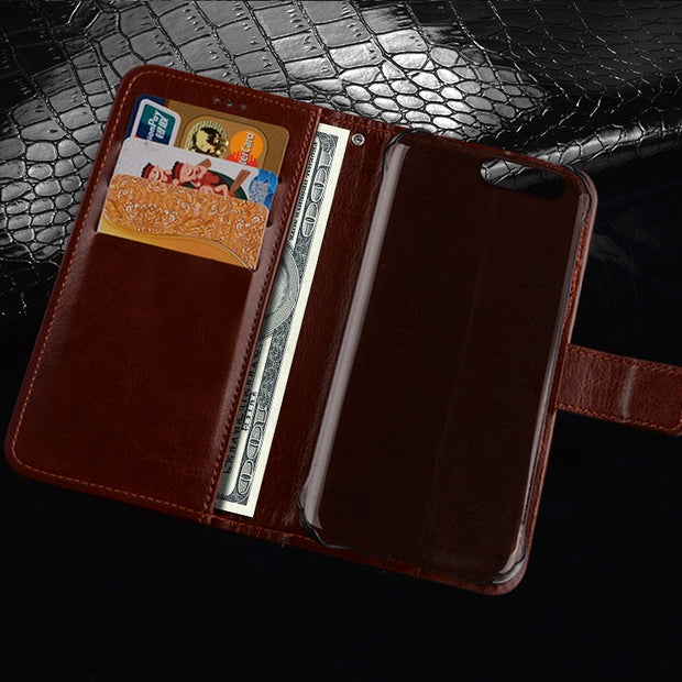 For Ulefone Gemini Pro/T1 Book Stand Case For Ulefone Gemini Pro T1 Phone Bag Shell Crazy Horse Wallet PU Leather Cases Cover