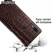 For VIVO V9 Crocodile Pattern Half-pack Mobile Phone Case Four-corner All-inclusive Mobile Phone Case For X6 X7 X9 X21 Case