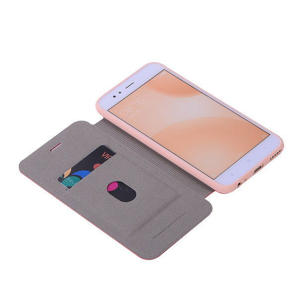 For Xiaomi 5X A1 Case 5.5 Inch Cover Leather Flip Back Phone Cases Silicon Hard Xnyocn For Xiaomi Mi 5X Mi5X Pro Case