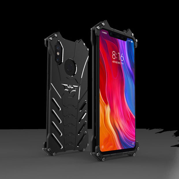 For Xiaomi Mi 8 Case R-JUST Luxury Space Aluminium Metal Cases For Xiaomi Mi 8 SE Xiaomi Mi8 Phone Cover Coque