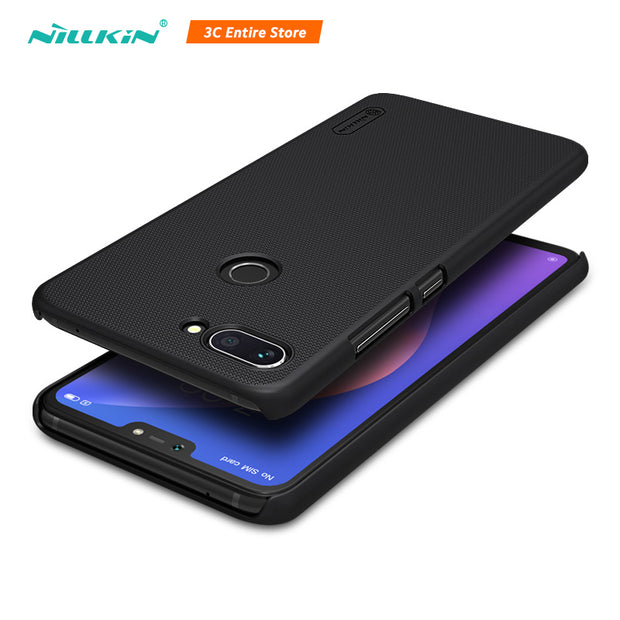 For Xiaomi Mi 8 Lite Case Cover 6.26'' Nillkin Frosted Matte Hard Back Cover Gift Phone Holder For Xiaomi 8 Lite Mi8 Lite Case