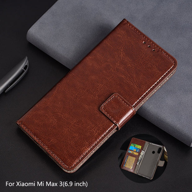 outlet store 3a3e2 83704 For Xiaomi Mi Max 3 Case Leather Phone Cover Photo Frame Flip Wallet Cases  For Coque Xiaomi Mi Max3 Shockproof Phone Cover