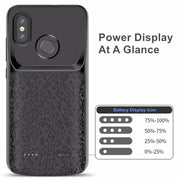 For Xiaomi Mi Mix 2 2S Mi 8 8 SE 6 6X Battery Case External Battery Backup Charger Cover Pack Power Bank