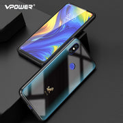 For Xiaomi Mi Mix 3 Case Cartoon Pattern Tempered Glass VPOWER Explosion-proof Cover For Xiaomi Mix 3 SE Shockproof Glass Case