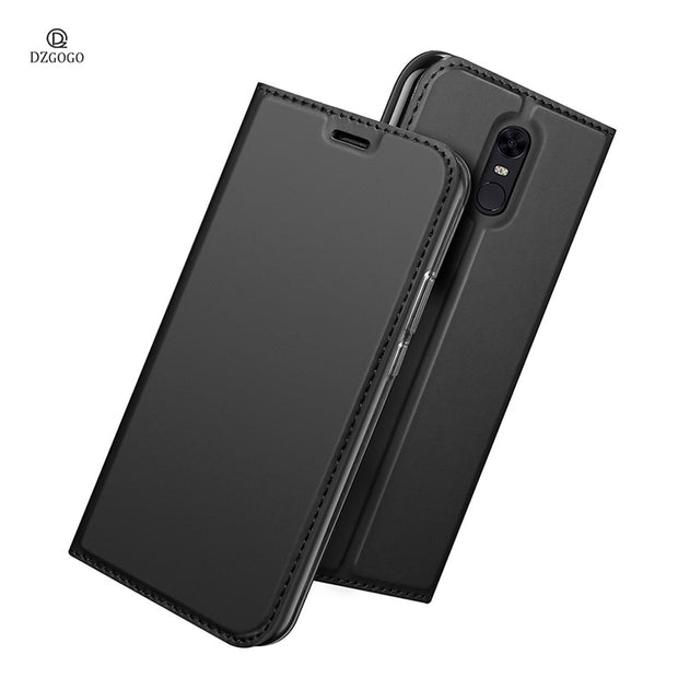 For Xiaomi Redmi 5 Plus Case Magnetic Phone Case For Xiaomi Redmi 5 Plus Cover High Quality Flip Leather Stand Case 5.99''