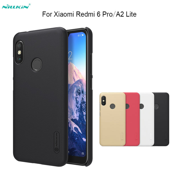 For Xiaomi Redmi 6 Pro/A2 Lite Case Nillkin Frosted Shield PC Back Cover Case With Screen Protector