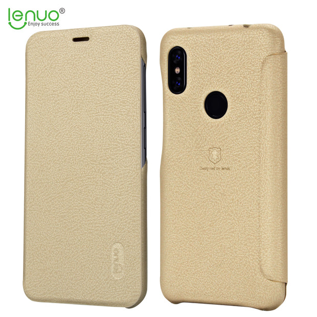 For Xiaomi Redmi Note 6 Pro Flip Case Lenuo Soft Leather Flip Case For Xiaomi Redmi Note 6 Pro Phone Bag Cover With Card Pocket