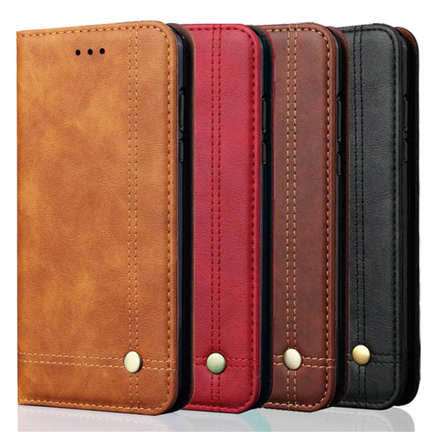 For Xiaomi Redmi Note 6 Pro Flip Case Luxury Leather Retro Wallet For Xiaomi Redmi Note 7 Pro Note7 Magnetic Flip Phone Case