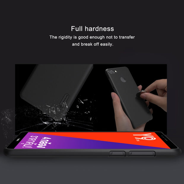For Huawei Y9 2018 Case NILLKIN Frosted PC Plastic Back Cover With Screen Protector For Huawei Enjoy 8 Plus Cover Phone Bags