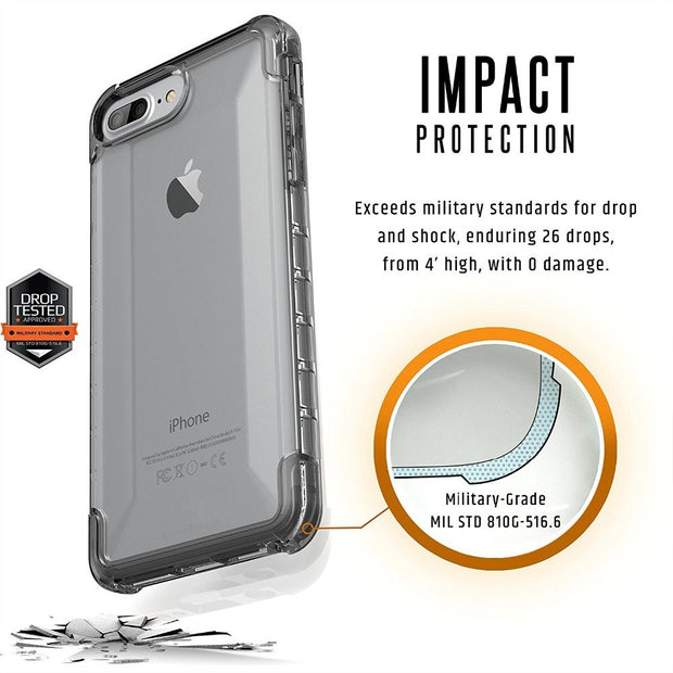 For IPhone 8 Plus Case/ IPhone 7 Plus / IPhone 6s Plyo Feather-Light Rugged Military Drop Tested For IPhone X Case Transparent