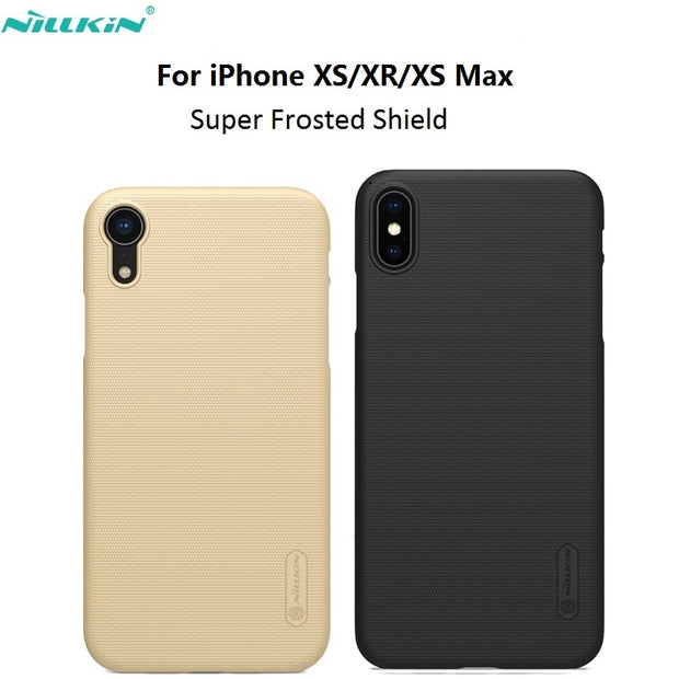 For IPhone X/ XR/XS Max Nillkin Frosted PC Hard Back Cover Case For IPhone XS XS Plus Matte Phone Case 6.1 6.5 Gift Phone Hold