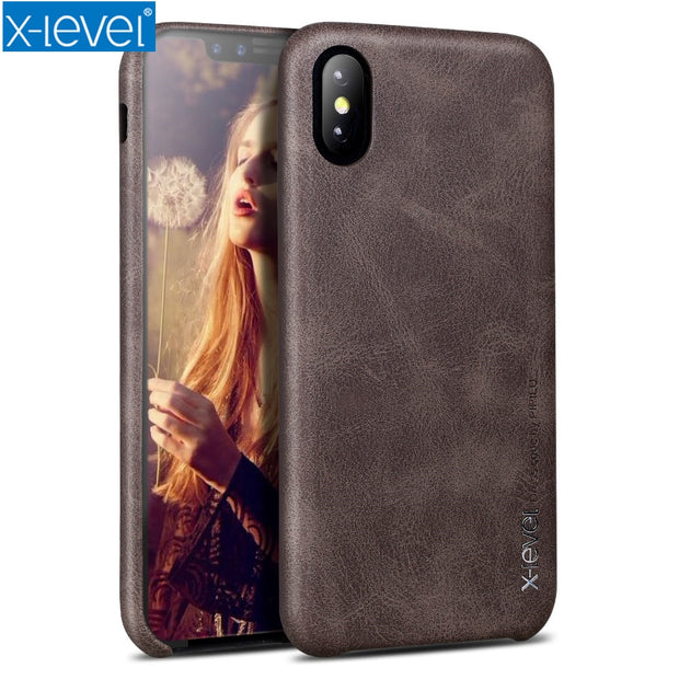 For IPhone X XS Max Leather Case X-Level Soft PU Original Luxury Retro Case Nice Touch Back Cover Case For Apple IPhone XR XS