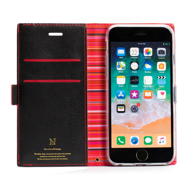 For IPhone Xs Max Case Luxury PU Leather Business Style Stripes Flip Wallet Cases With Strap Magnetic Cover For IPhone Xs Xr