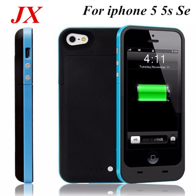 For Iphone 5 Battery Case 2500 Mah Ultra Thin Backup Charger Cover For Iphone 5 Battery Case 5S SE Smart Power Case Bank