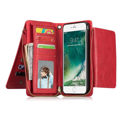 "For Iphone 8 Case (4.7"") Luxury Wallet Case + Card Slots PU Leather Cover For Iphone 6S / 6 Coque Para Funda Capa For Iphone 7"