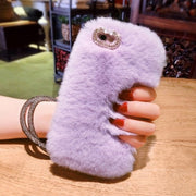 For Iphone X Case,Fashion Luxury Bling Rabbit Fur Warm Soft Case Cover For IPHONE X XS MAX XR 6 6S PLUS 7 8 PLUS Bling Case
