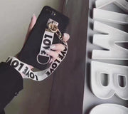 For Iphone X Case Strap Love Letters Neck Lanyard Phone Cases For IPhone X 10 6 7 8 Plus 5s Se 6s I7 Moblie Cover Rope Holder