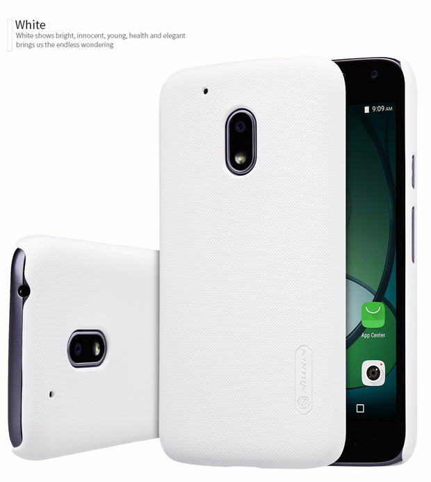 For Moto G4 Play Phone Case Nillkin Super Frosted Shield Case For Motorola G4 Play Plastic Hard Back Cover + Screen Protector