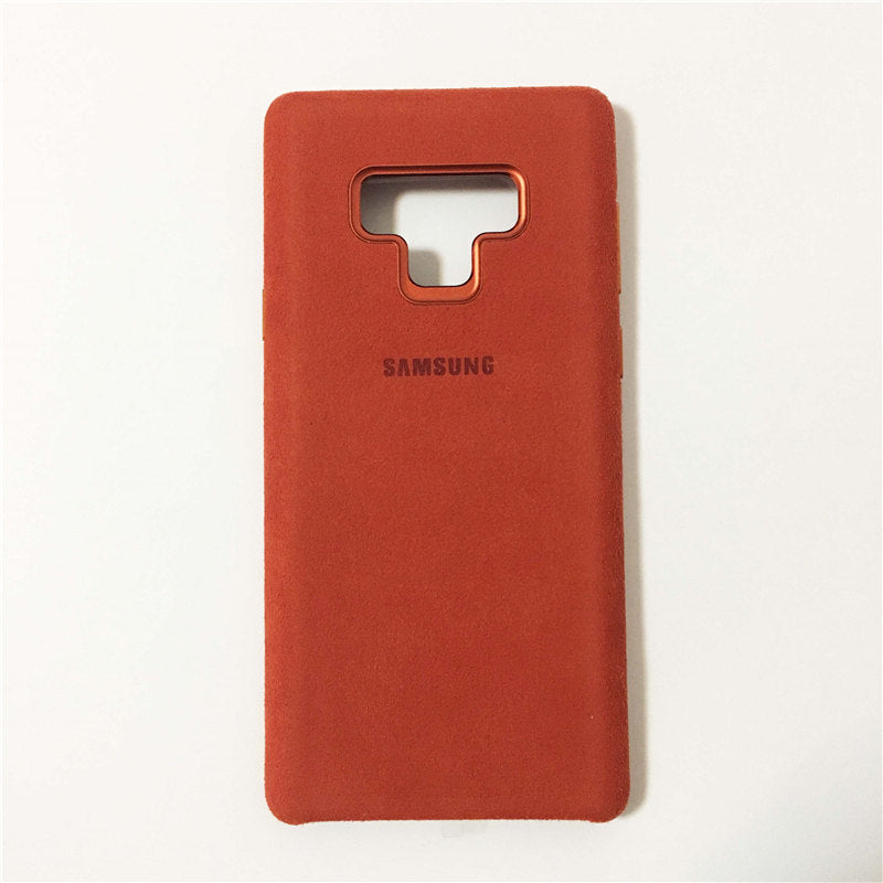 size 40 d2fd4 4e053 GENUINE Samsung Galaxy Note 9 Luxury Full Protection Suede Leather Cover  Alcantara Case Capa SM-N9600 Protective
