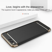 GXE Luxury Mobile Phone Case For Xiaomi Mi 6 Mi6 M6 Bag Cover 360 Degree Protection Hard PC Plating Case 3 In 1 Chrome Cases